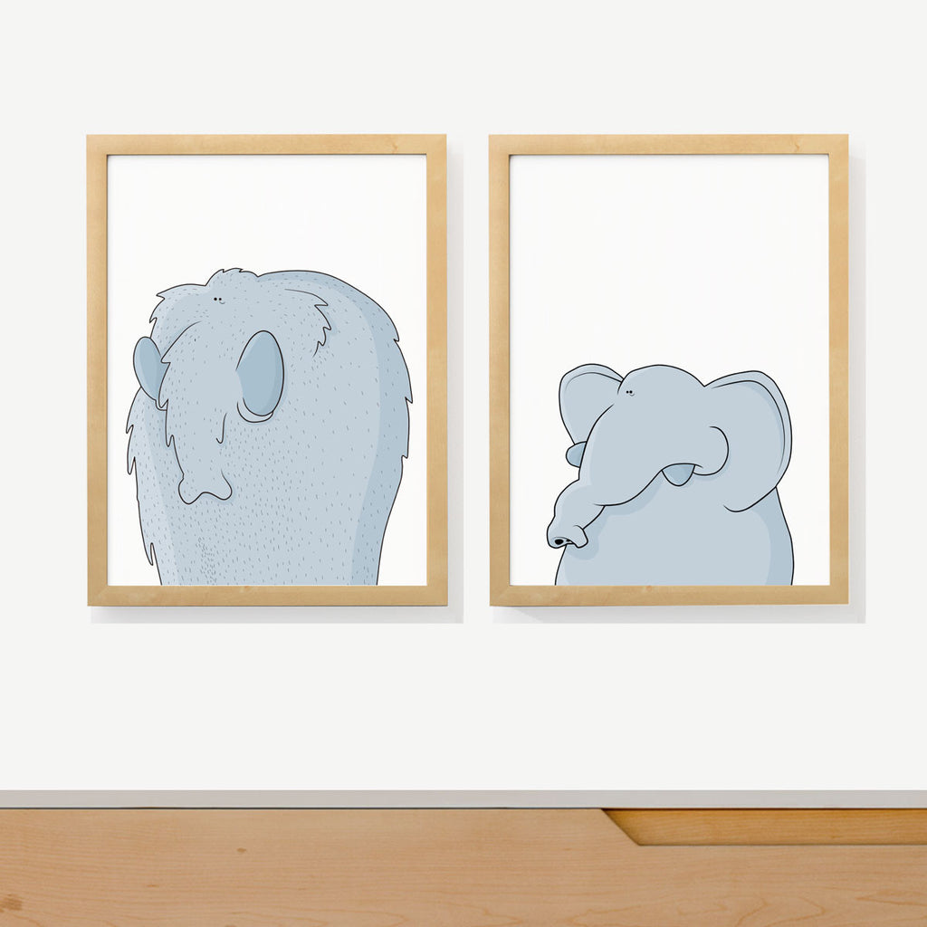 ELEPHANT PORTRAITS | Two set art prints