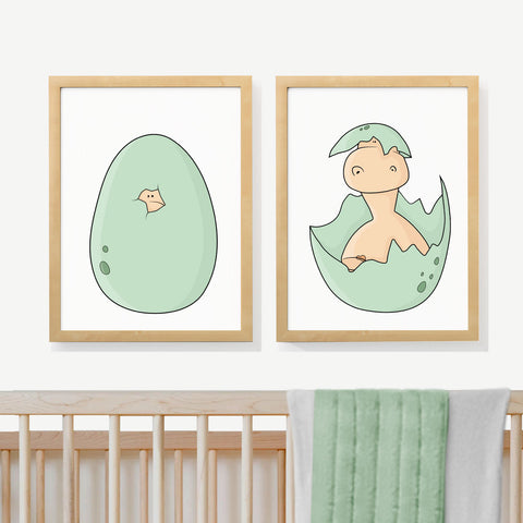 JURASSIC EGGS | Two set art prints