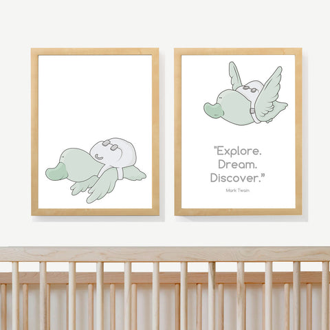 DUCKS QUOTE | Two set art prints