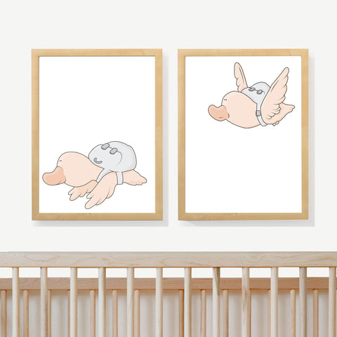 TRAVELING DUCKS | Two set art prints