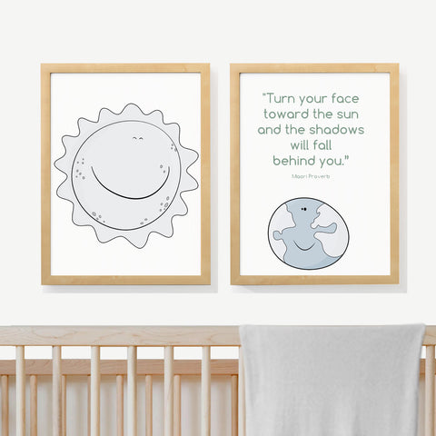 SUN & EARTH | Two set art prints