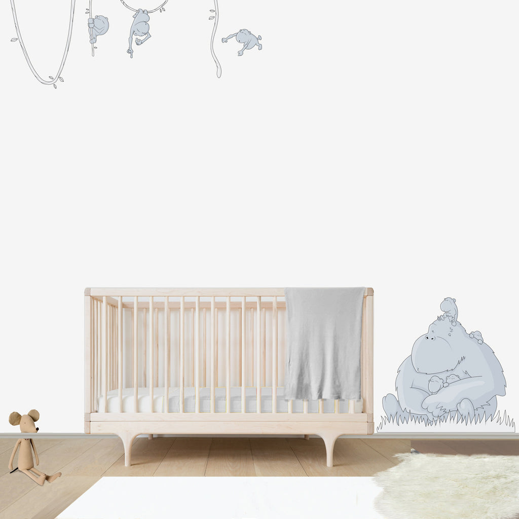 GORILLA BIG FAMILY | Wall decal for babies' room