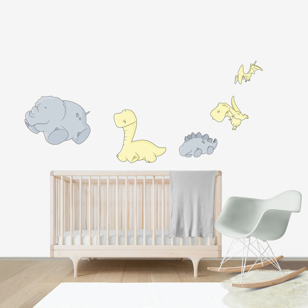 Weightless dinosaurs wall decal for kids 39 room bubbles for Dinosaur wall decals for kids rooms