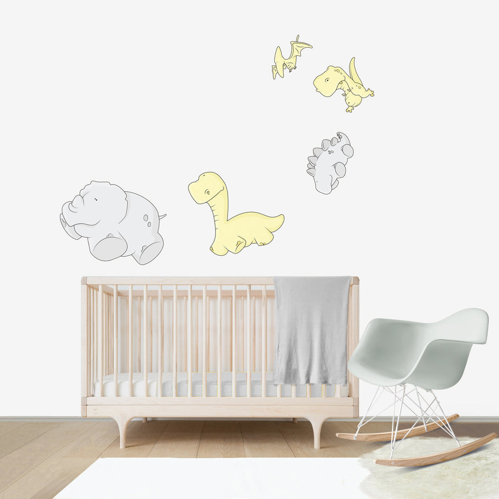 Dinosaurs Weightless Large wall decal for kids' room wall vinyl, kid room design ideas, kid decor