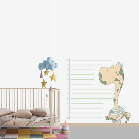 Dinosaur wall decal for kids' room wall vinyl, kid room design ideas, kid decor, growth chart
