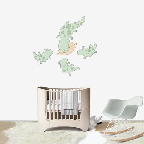 Lizard's Dinner Large wall decal for kids' room wall vinyl, kid room design ideas, kid decor