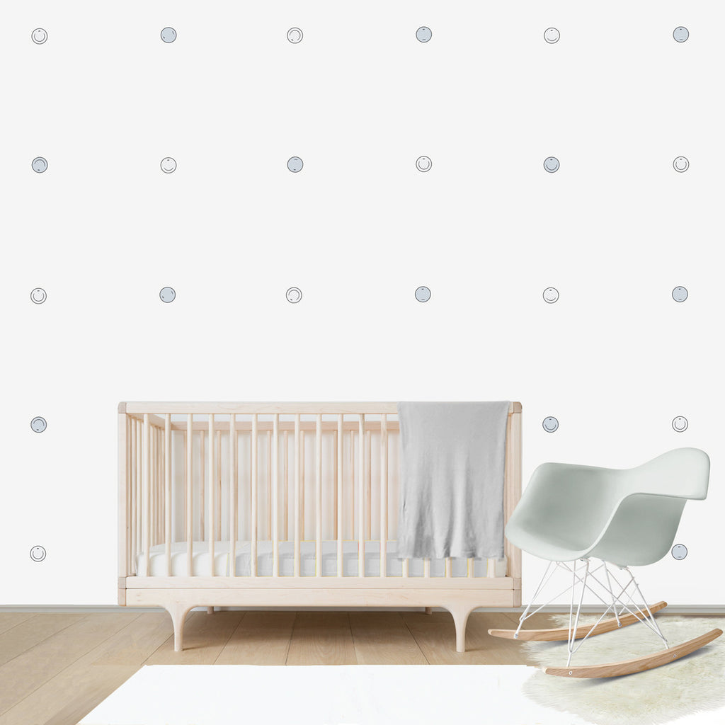 Smiley Balls Emoticon Pattern, wall decal for kids' room wall vinyl, kid room design ideas, kid decor
