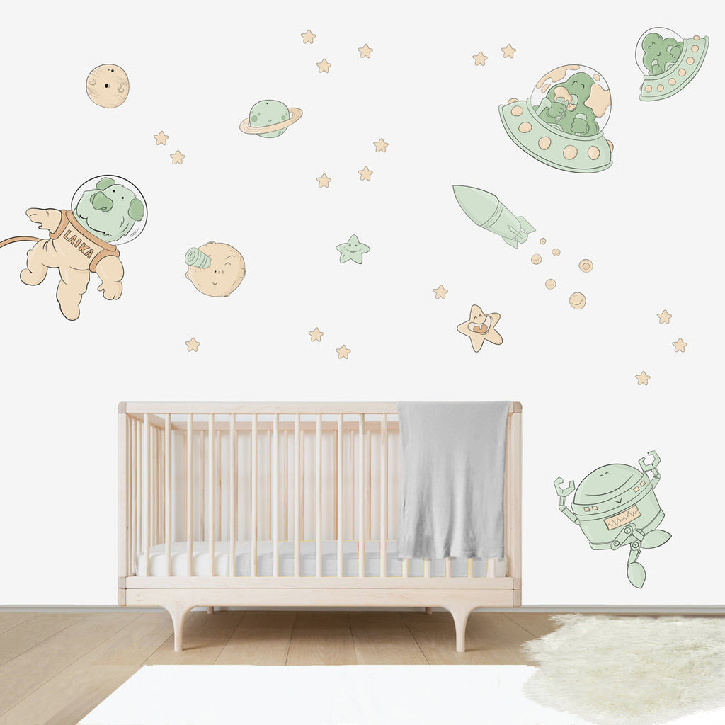 Space Oddity Wall Decal For Kids Room Bubbles And Bubbles