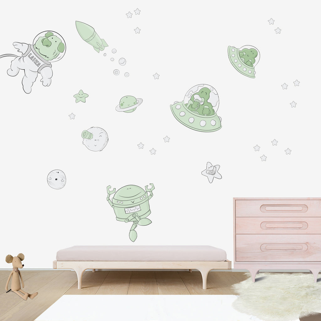 space oddity wall decal for kids room bubbles and bubbles space oddity large wall decal for kids room wall vinyl kid room design ideas