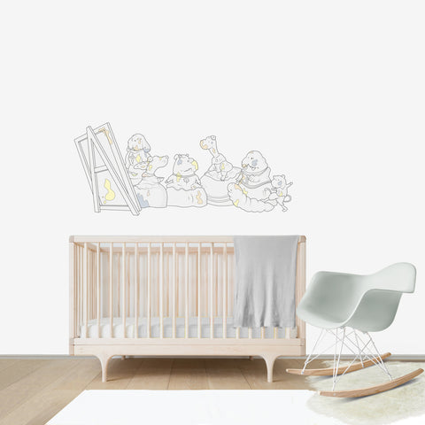 Las Meninas Large wall decal for kids' room wall vinyl, kid room design ideas, kid decor