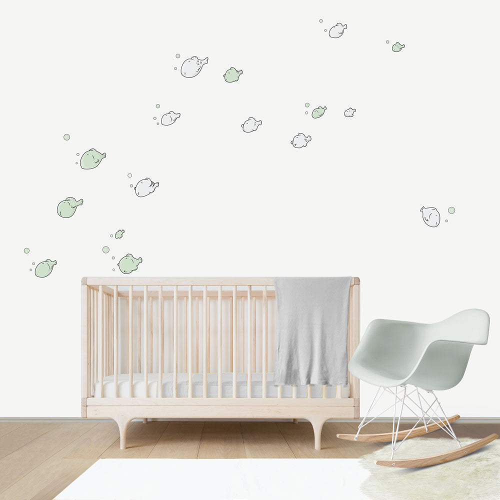 Fish Large wall decal for kids' room wall vinyl, kid room design ideas, kid decor
