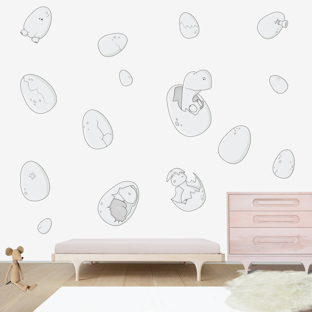 Jurassic Eggs Large wall decal for kids' room wall vinyl, kid room design ideas, kid decor