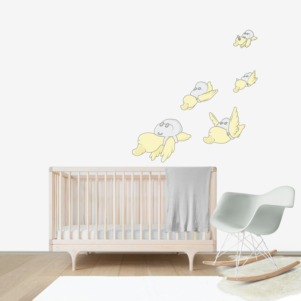 Migratory Birds Large wall decal for kids' room wall vinyl, kid room design ideas, kid decor
