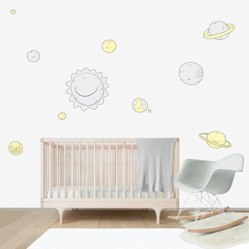 Solar System Large wall decal for kids' room wall vinyl, kid room design ideas, kid decor