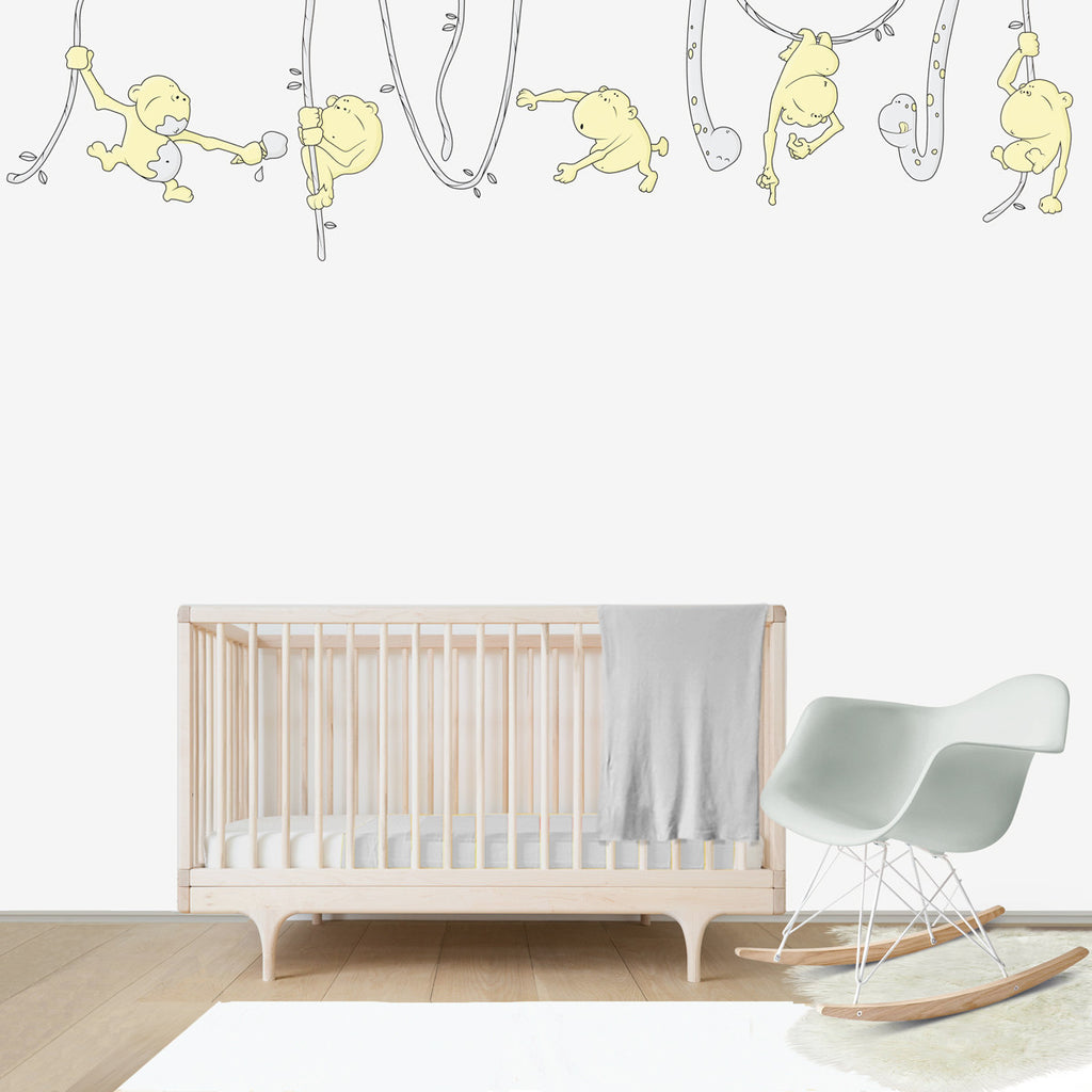 Monkeys Jungle Large wall decal for kids' room wall vinyl, kid room design ideas, kid decor