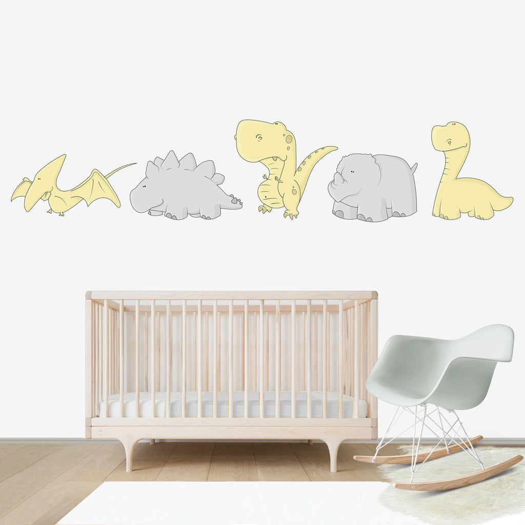 Friendly dinosaurs wall decal for kids 39 room bubbles for Dinosaur wall decals for kids rooms