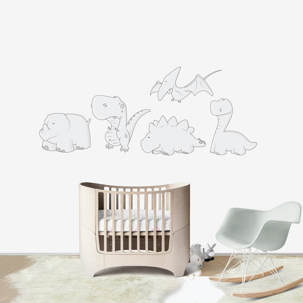 FRIENDLY DINOSAURS | Wall decal for kids' room