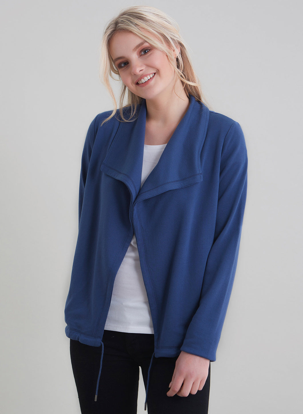 Long Sleeve jacket with wide collar