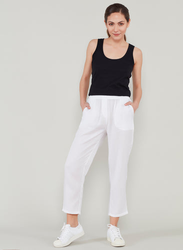 White Tencel Pants