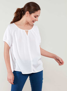 V-Open Neckline Blouse