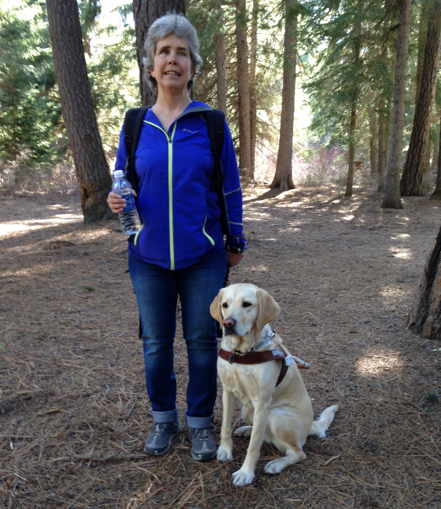 Nancy & Abbie in their element – hiking together on some local trails.