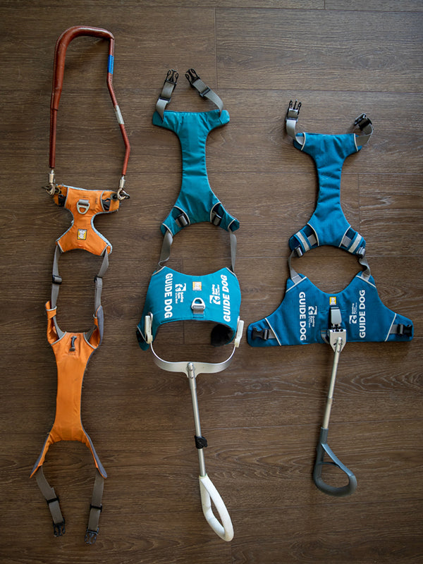 Three iterations of harnesses made in the Unifly design process.