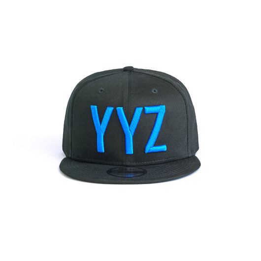 Blue on Black Snapback
