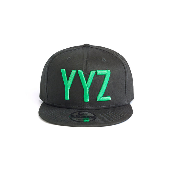 Green on Black Snapback