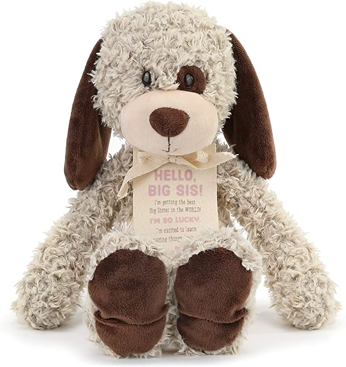 Demdaco-Hello Big Sis Stuffed Puppy