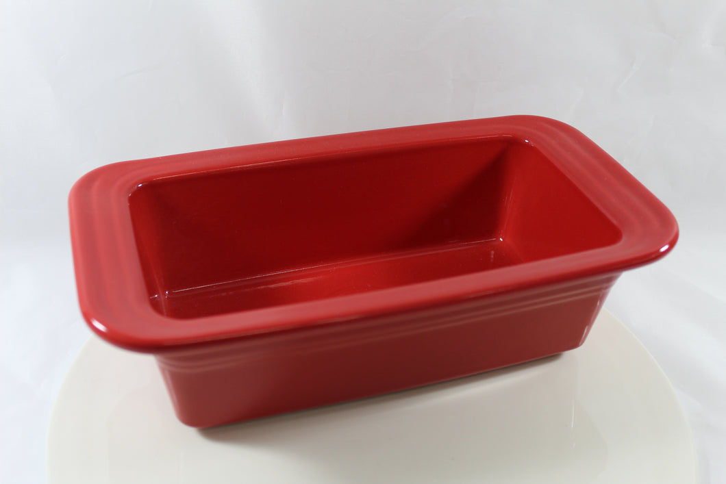 Fiesta Loaf Pan Scarlet Color