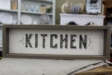 "Load image into Gallery viewer, Wall Hanging Sign ""Kitchen"""