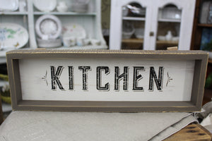 """Kitchen"" Wall Hanging Sign"