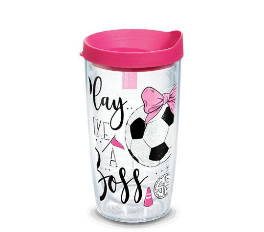 Tervis Tumbler 16oz- Simply Southern- Play Like A Boss Soccer