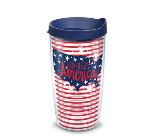 Tervis Tumbler 16oz- God Bless America- Coton Colors