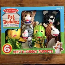 Melissa & Doug Pet Buddies Hand Puppets