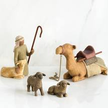 Willow Tree® Figurine - Shepherd and Stable Animals