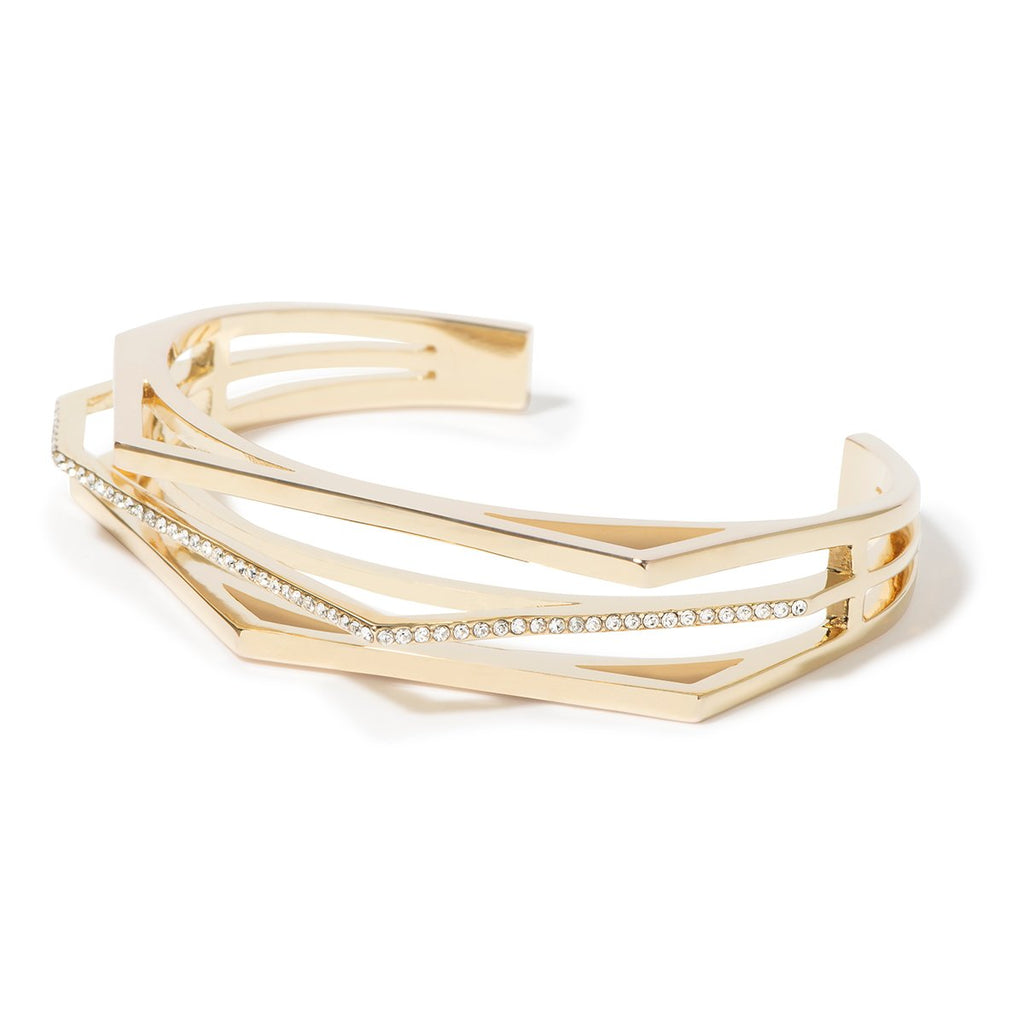 Aris Pave Cut-out Cuff - Gold