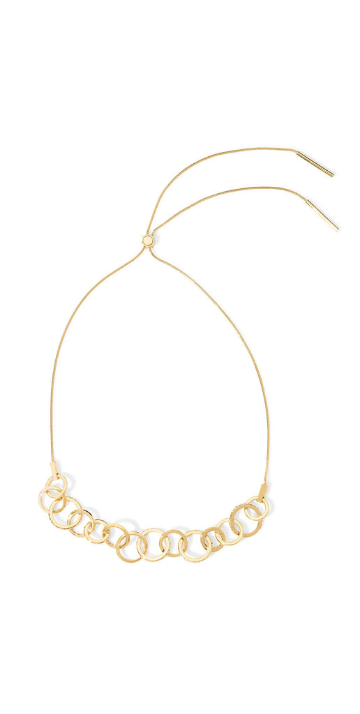 Cira Pave Circle Link Statement Necklace - Gold