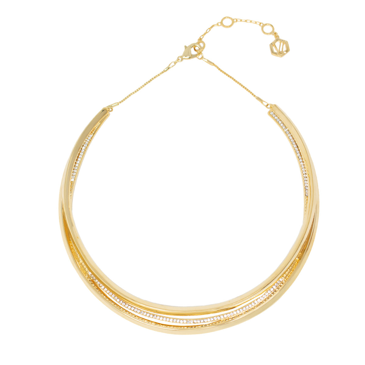 Cira Pave Collar Necklace - Gold