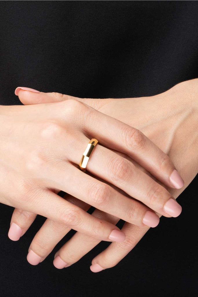 Essential Simple Band Ring - Gold