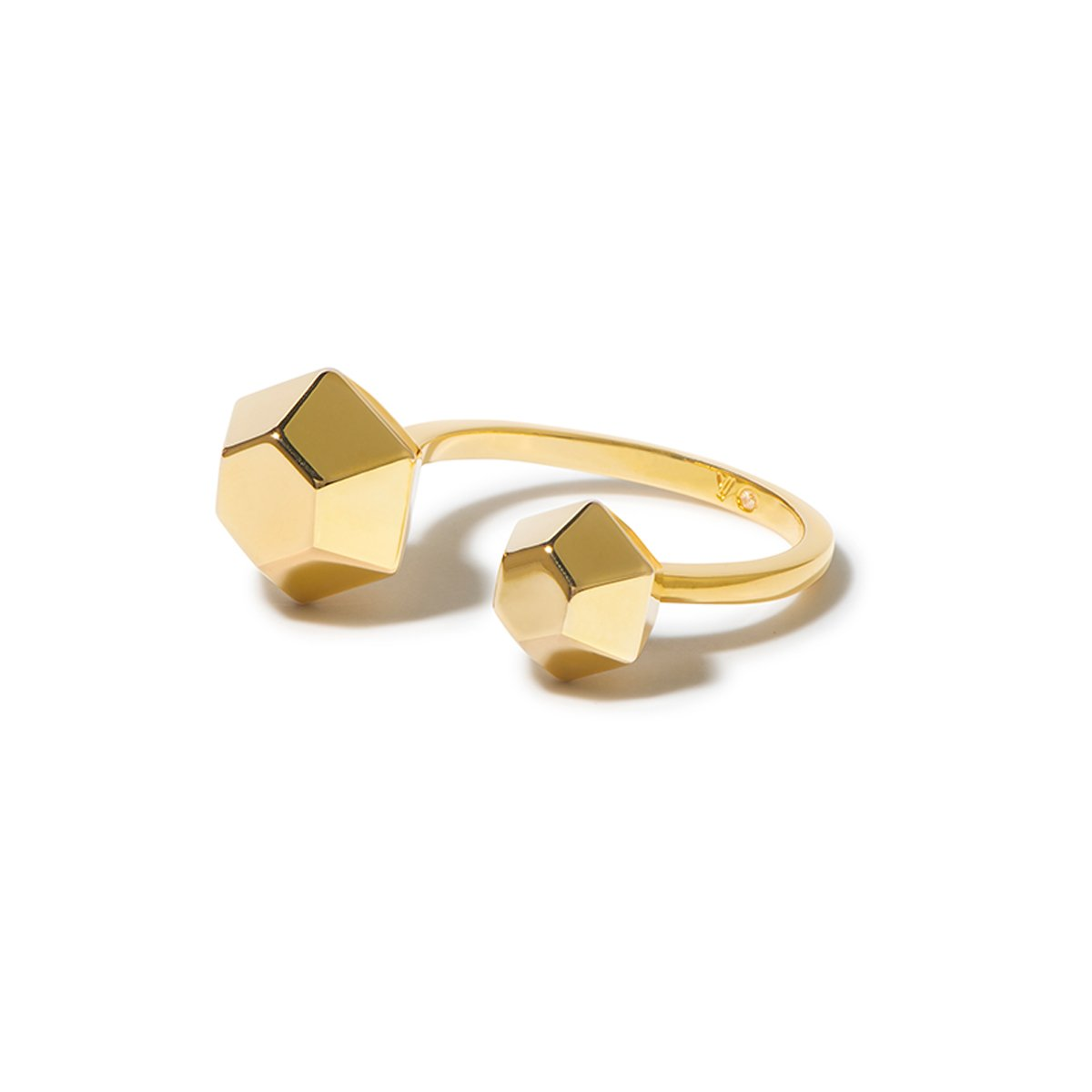 Sixtine Hexagon Open Ring - Gold