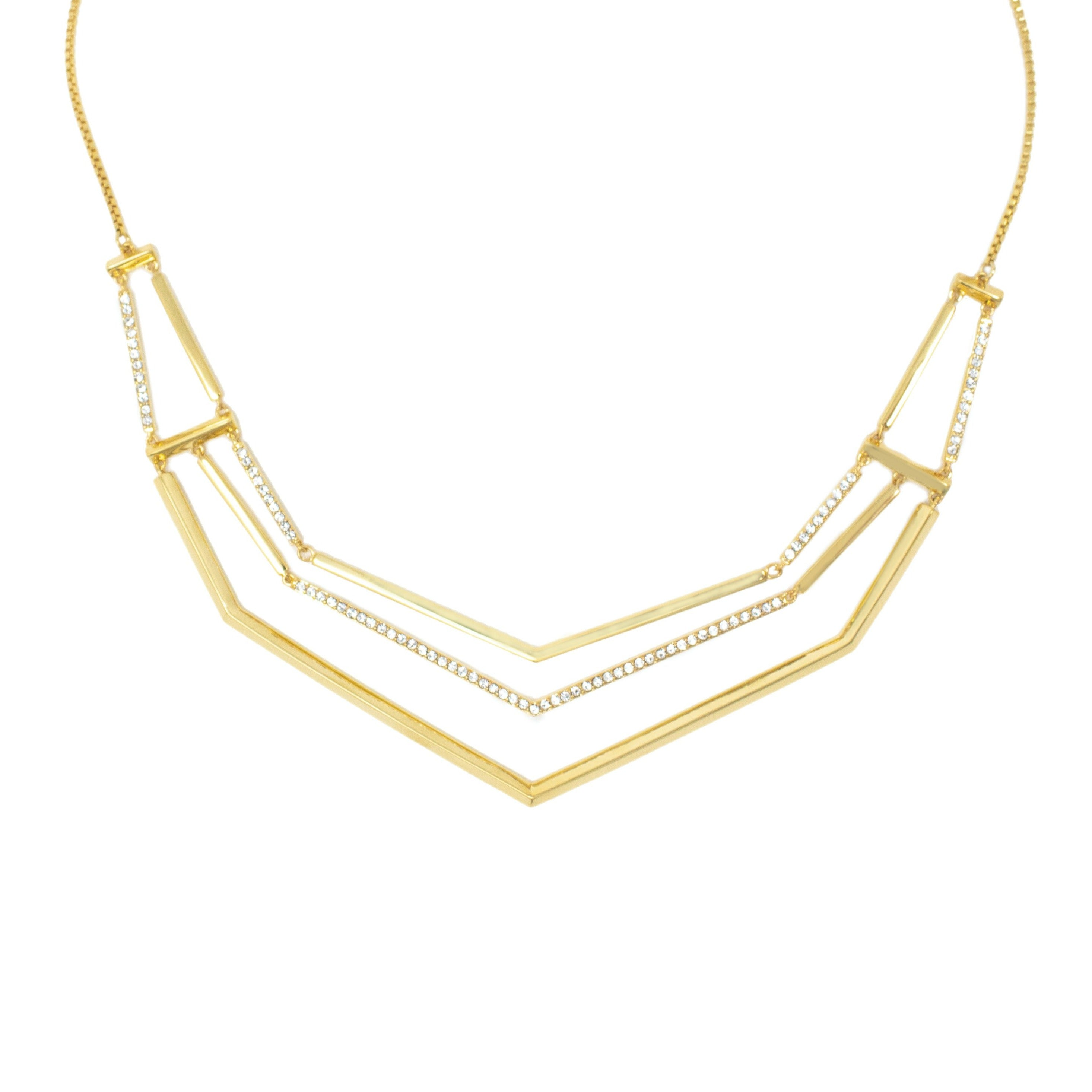 Pave Link Slider Necklace