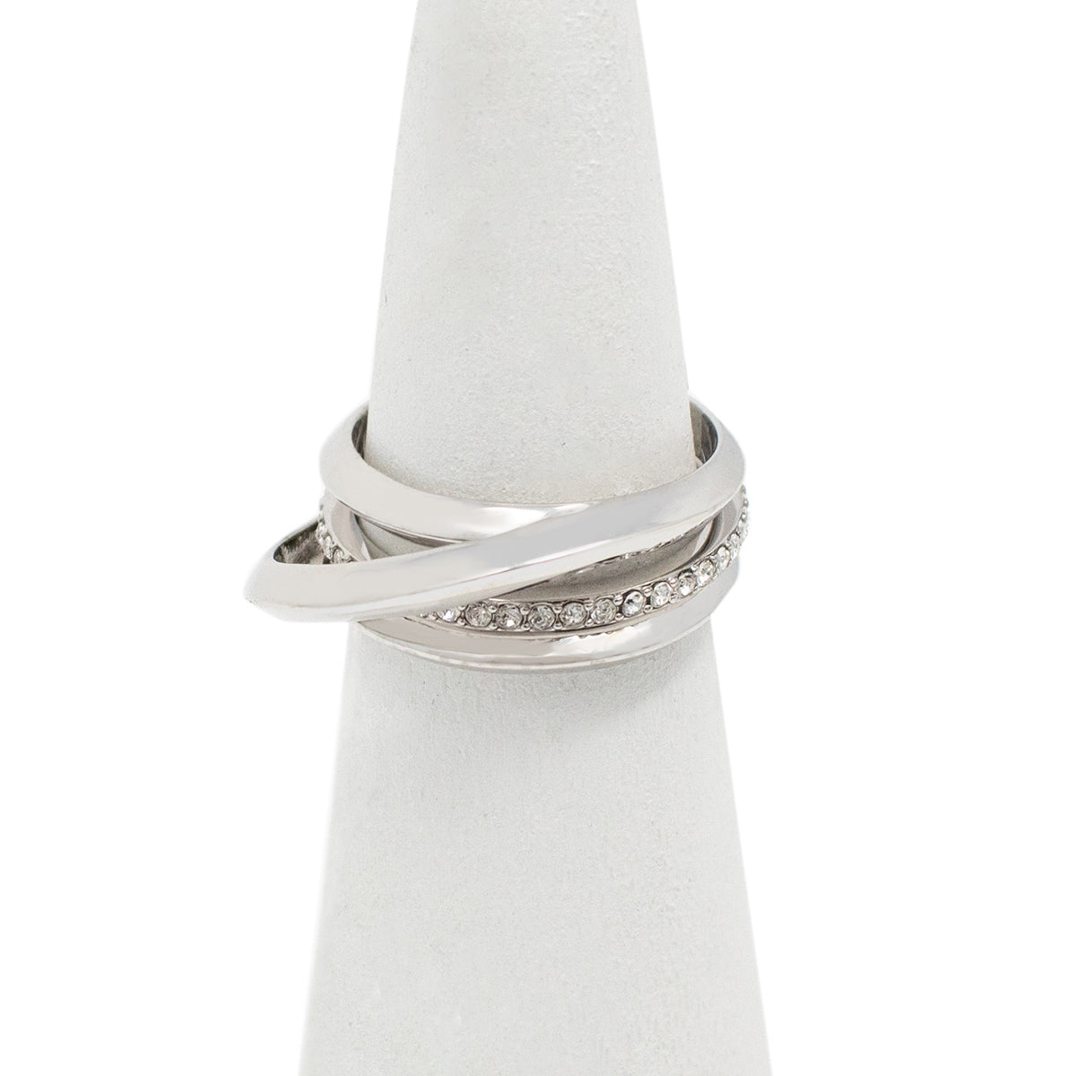Cira Puzzle Ring - Rhodium