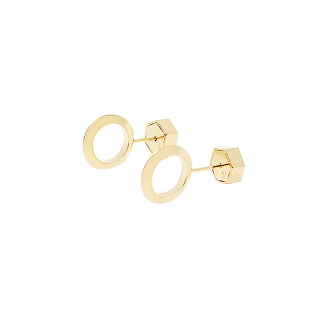 Cira Small Circle Studs - Gold