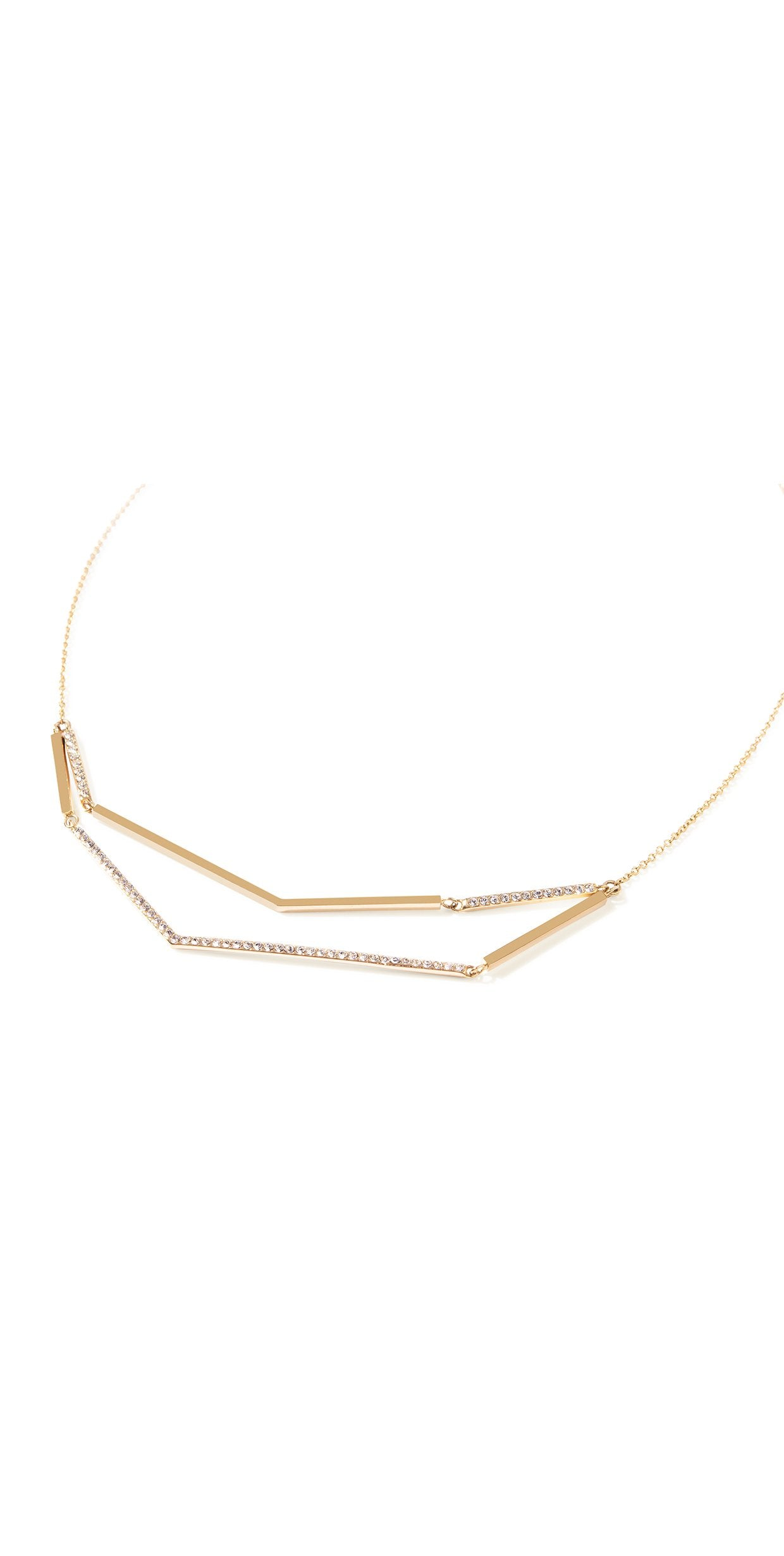 Aris Pave Link Necklace - Gold