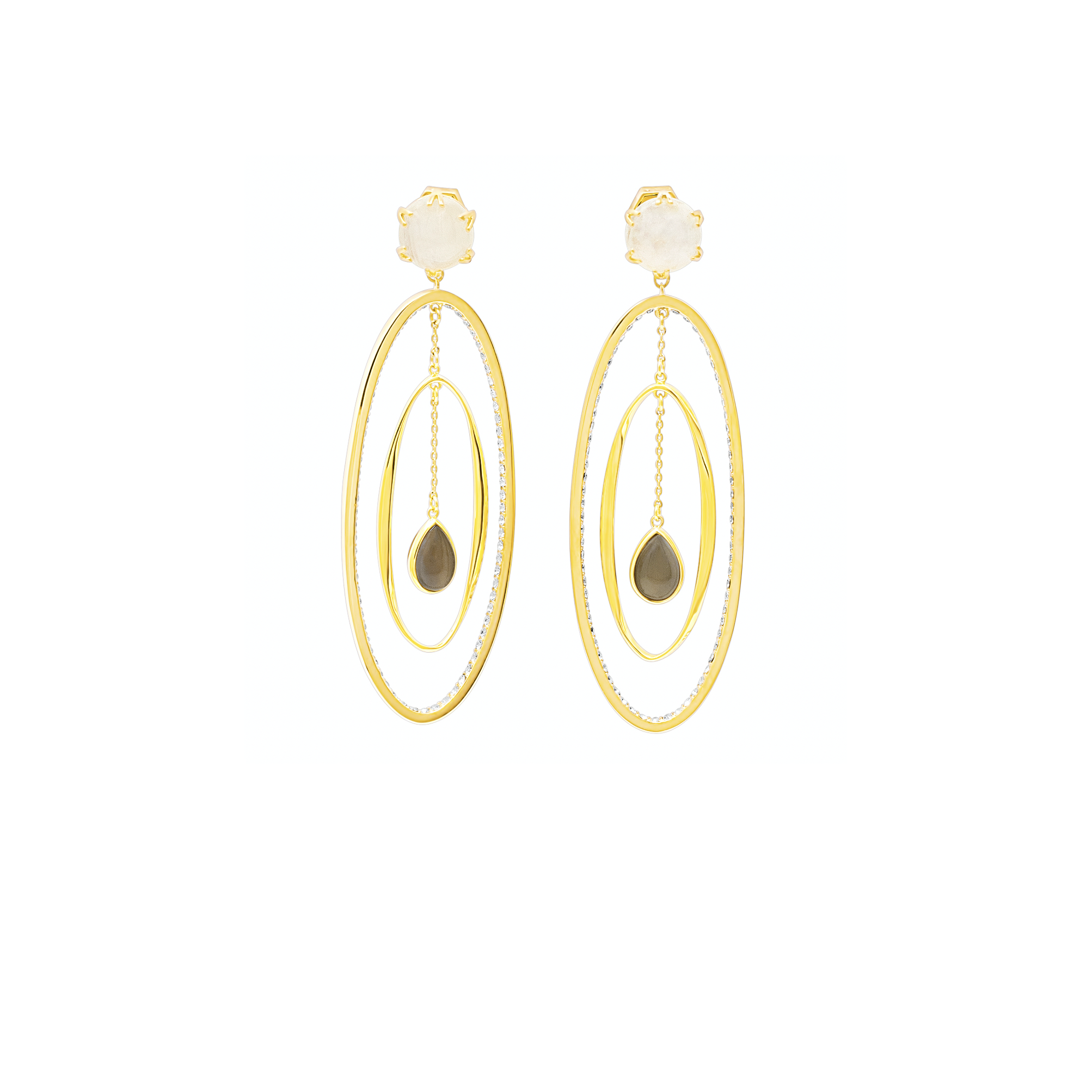 Moonstone Statement Earrings