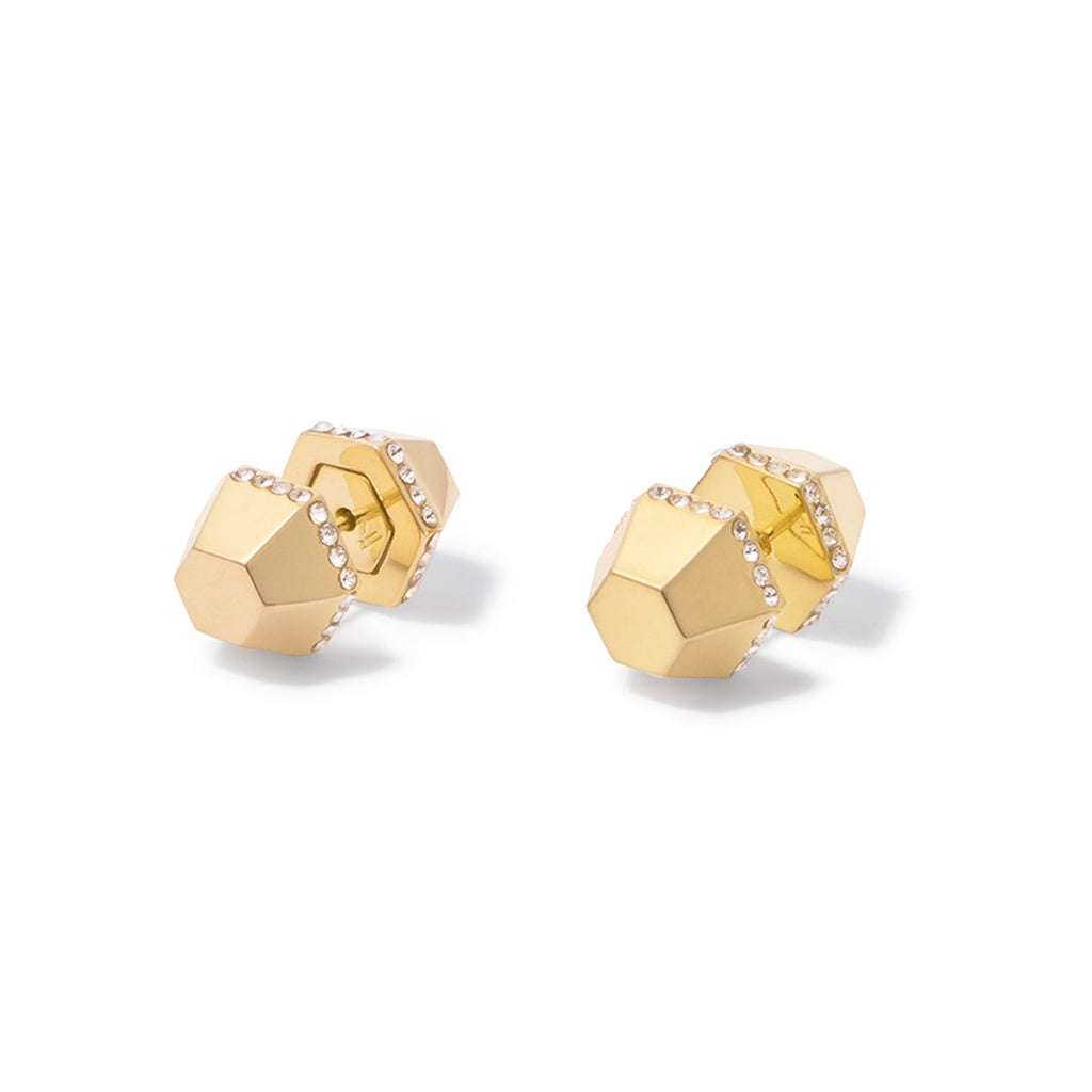 Sixtine Front-back Studs - Gold
