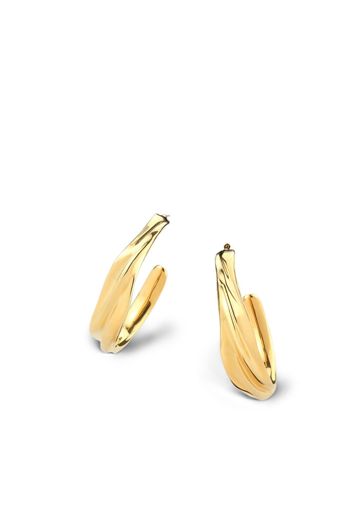 Via Saviene - Rhythm Hoop Earring - Gold
