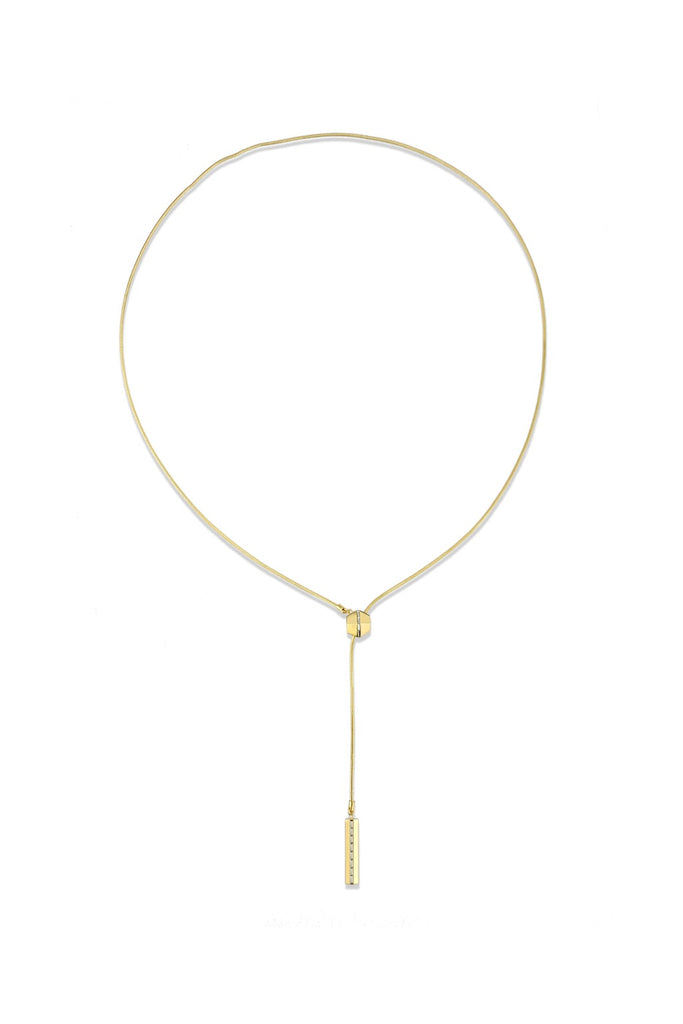 Essential Y Necklace - Gold