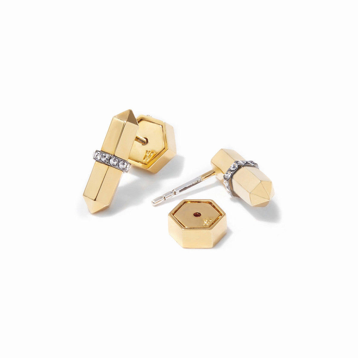 Colette Studs - 2 Tone Gold and Hematite
